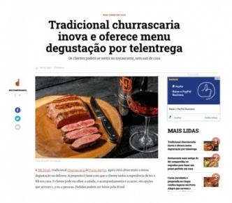Tradicional churrascaria inova e oferece menu degustação por telentrega