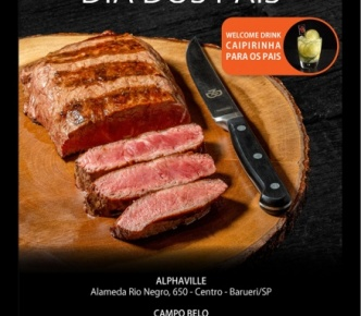 Venha comemorar o dia dos Pais no NB Steak!