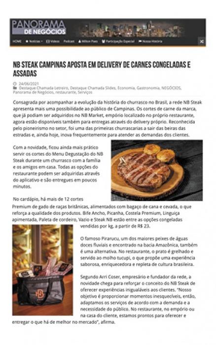 NB Campinas aposta em delivery de carnes congeladas