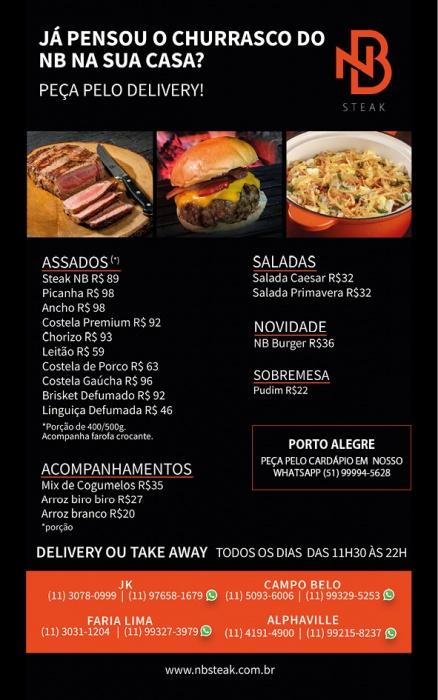 Peça pelo Delivery NB Steak