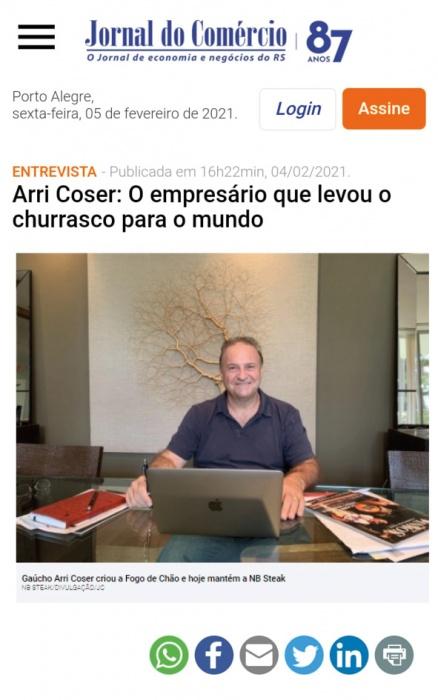 Arri Coser: O empresário que levou o churrasco para o mundo